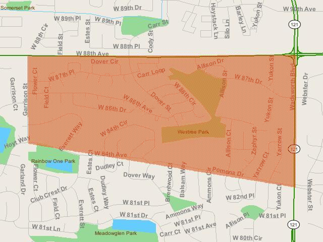 See the Area Affected